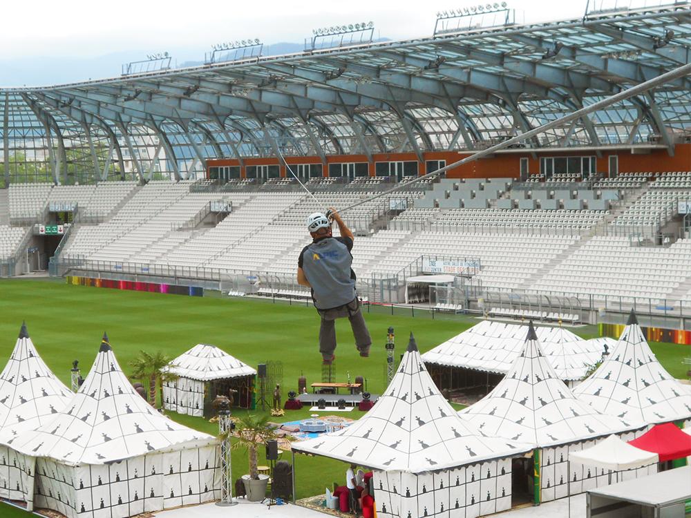 Grande Stade Lyon - Horizontales Seilsicherungssystem BATILIGNE VERTIC