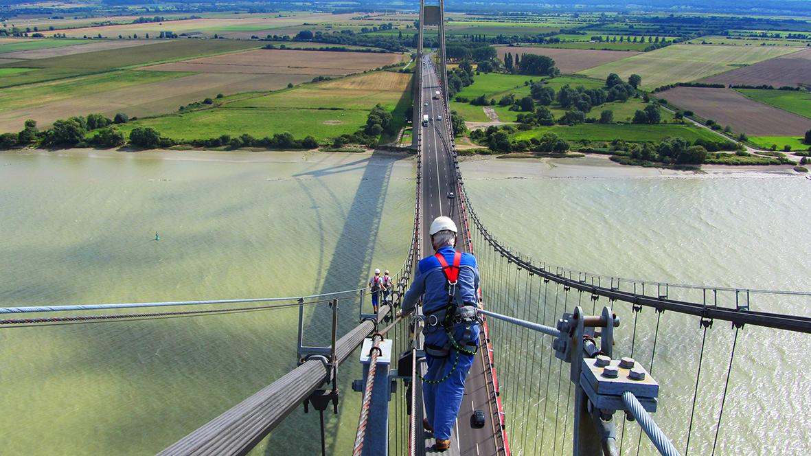 Tancarville Brücke (Seine-Maritime) : Combiligne VERTIC